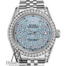Women's Rolex Datejust 31mm Stainless Steel Ice Blue Jubilee Diamond Dial Watch