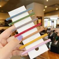2Pcs/Set Cute Acrylic Hair Clip Colorful Hair Grip Barrettes Hairpin Headwear