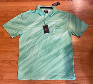 Greg Norman for Tasso Elba Play Dry Polo Shirt Short Sleeve Men's Sz: Medium NWT