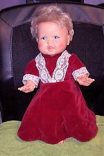 Vintage RUB-A-DUB DOLLY Baby Doll Blonde Hair Blue Eyes 1973 Ideal TOY Corp