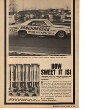 1968 DODGE HEMI DART FUNNY CAR / RAMCHARGERS ~ ORIGINAL 4-PAGE ARTICLE / AD