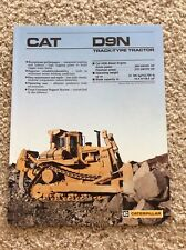 1987 Caterpillar D9N track-type tractor, original factory sales handout