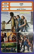 US Hippy Musical Vietnam War Comedy Drama Hair French Film Trade Card