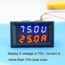 Dual DC 100A 100V LED Digital Ammeter Voltmeter LCD Panel Amp Volt Current Meter