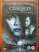 Cursed DVD 2005 Wes Craven Werewolf Horror Movie with Christina Ricci