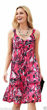 Polyester Summer/Beach Floral Plus Size Dresses for Women