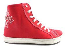 scarpe donna CIABOO 35 sneakers rosso tela AX26