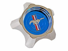 Ford Mustang Styled Steel Wheel Rim BLUE Centre Cap 1967 67 GT A V8 289 390 347