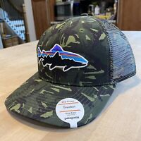 Patagonia Fitz Roy Trout Trucker Hat - New With Tags - Big Camo/Fatigue Green