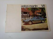 1975 Aston Martin Dbs V8 Usa Market Color Brochure Catalog