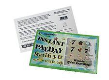 Pregnancy Announcement Scratch Off Reveal Lotto Scratcher Replica Card 5 tickets
