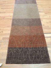 Modern 2x10   3x10 Tibetan Rug Runner Oriental Rust Brown Abstract wool