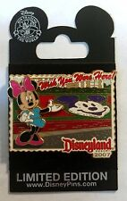 POSTCARD Wish You Were Here MINNIE MOUSE Main Entrance Garden 2007 DISNEY PIN LE