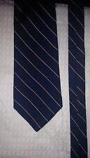 Brooks Brothers Mens Neck Tie Navy Blue Striped 3.75'' W x 59'' L 3 3/4 Makers
