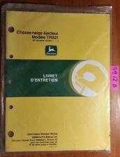 John Deere TRS21 Chasse-neige ejecteur 110,001-160,000 Livret d'entretein Manual