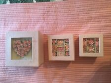 BRAND NEW SHABBY CHIC STYLE PINK DECORATIVE/STORAGE BOXES SET OF 3