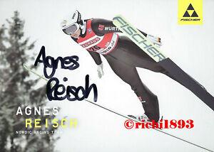 Agnes Reisch - Skispringen - Autogrammkarte - original unterschrieben