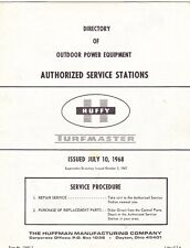 1968 HUFFY POWER EQUIPMENT SERVICE STATION DIRECTORY