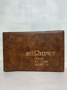 1977 Chrysler Color Upholstery Dealer Album LeBaron Cordoba OEM From Factory