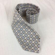 Ermenegildo Zegna Tie Octagon Floral Pattern 100% Silk Made In Italy Excellent