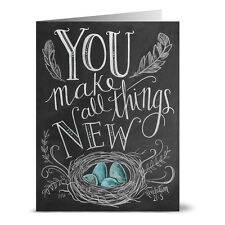 24 Chalkboard Note Cards - You Make all Thing New - Kraft Envs