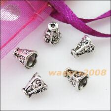 45 New Connectors Tiny Cone Speaker Tibetan Silver End Bead Caps 5.5x6.5mm