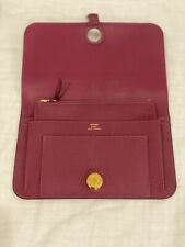 Hermes Dogon Duo Wallet Tosca Gold Hardware Used With Box