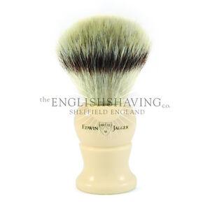 Edwin Jagger Ivory Shaving Brush (Synthetic Silvertip) [Size: MEDIUM, NEW]