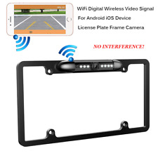 WiFi Wireless Car Rear View Backup License Plate Frame Camera Android Ios Device