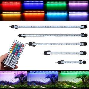 Waterproof Submersible Aquarium Fish Tank RGB LED Light Bar Strip Lamp +  3 F