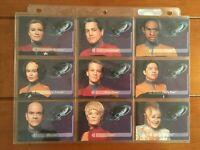1995 SkyBox Star Trek: Voyager Season One Series 2 Embossed Crew