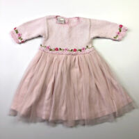 Victoria Kids Pink Crochet Tulle Skirted Dress 12-18 Months Boutique