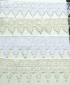 Guipure/Venise Lace White or Ivory Trim - 4 designs Bridal Craft