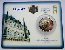 Luxemburg / Luxembourg speciale 2 euro 2009 Charlotte BU in Coincard