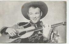 Roy Rogers Playing Guitar Arcade Card 1930s