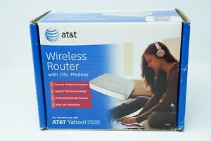 AT&T Wireless Router With Dsl 2wire modem, White