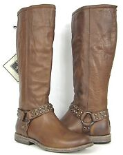 FRYE BOOTS Phillip Studded Harness Cognac Soft Leather Boots 76506 SZ 7 $378