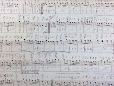 Musical Score on Cream 100% Cotton by the half metre
