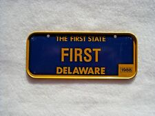 1988 DELAWARE Post Cereal License Plate # FIRST