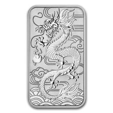 5x Lingot DRAGON 2018 1 Once argent pur 9999/ 5x PERTH MINT 1 Oz Fine Silver Bar
