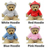"HOODIE - pink,blue,red,white -16""/40cm TEDDY BEAR CLOTHES / BUILD A TEDDY BEAR"