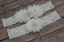 Ivory garter set, plus size garter, ivory wedding garter, garter ivory,US seller