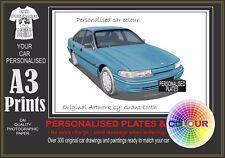 92-93 VP COMMODORE SEDAN A3 ORIGINAL PERSONALISED PRINT POSTER CLASSIC RETRO CAR