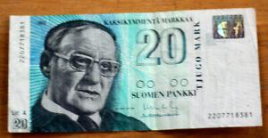 20 Markkaa, Bank of Finland, 1993.