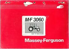 MASSEY FERGUSON MF3060 TRACTOR MF 3060 PARTS MANUAL