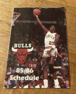 Rare Michael Jordan Rookie Chicago Bulls 1985/86 Pocket Schedule Last Dance