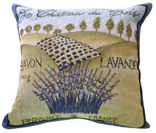 NEW Tapestry Throw Pillow CUSHION Savon France Lavender Sofa Home Decor