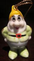 RARE Disney Dwarf Happy Snow White Ceramic Porcelain Ornament Figure Figurine
