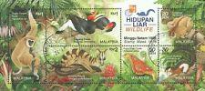 Wildlife 1996 Malaysia Monkey Birds Flora Fauna Butterfly (MS HK Overprint) CTO
