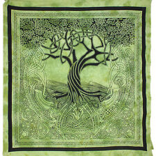 Tree of Life Spirit Of The Trees throw Bedspread FairTrade backdrop wallhanging